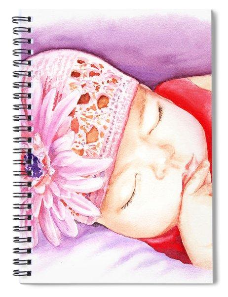 Sleeping Baby Spiral Notebook