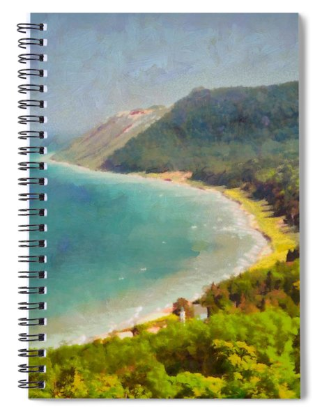 Sleeping Bear Dunes Lakeshore View Spiral Notebook