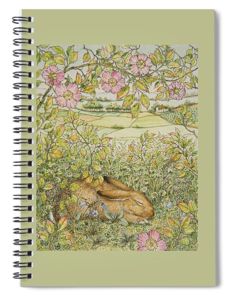 Sleepy Bunny Spiral Notebook