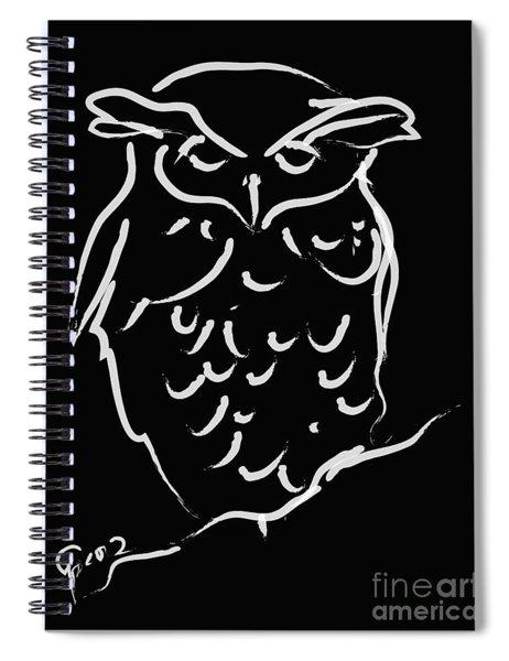 Sleepy Owl Spiral Notebook