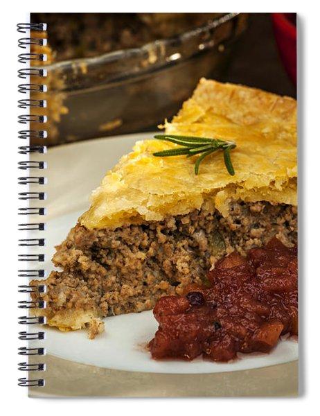 Slice Of Meat Pie Tourtiere Spiral Notebook