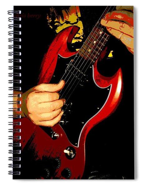 Red Gibson Guitar Spiral Notebook