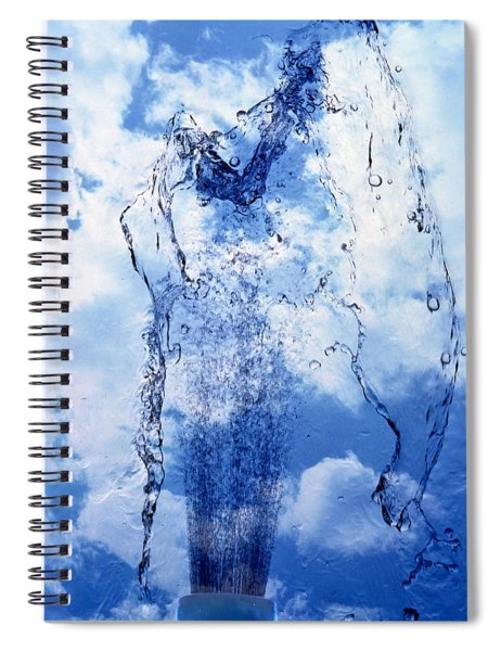 Slow Motion Geyser Of Water Rising Spiral Notebook