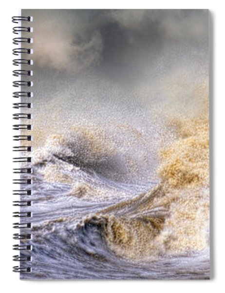 Small Boat In Storm Spiral Notebook