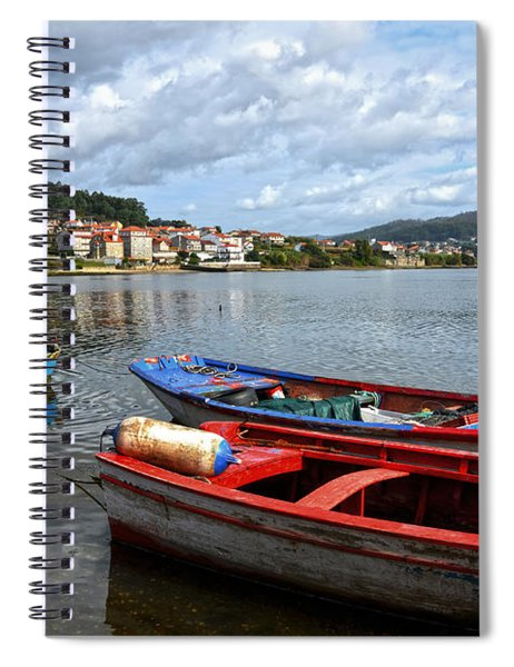 Small Boats In Galicia Spiral Notebook
