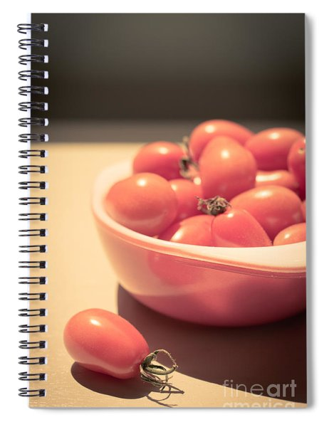 Small Cherry Tomatoes In A Bowl Spiral Notebook