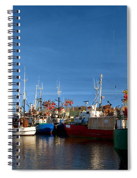 Small Ships In A Charming Harbor Spiral Notebook