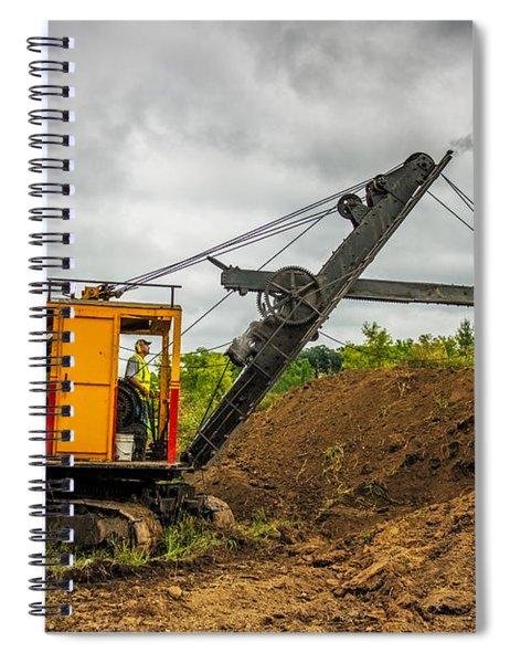 Small Steam Shovel Spiral Notebook