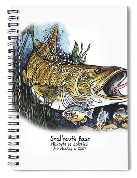 Smallmouth Bass Spiral Notebook