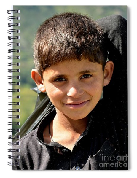 Smiling Boy In The Swat Valley - Pakistan Spiral Notebook