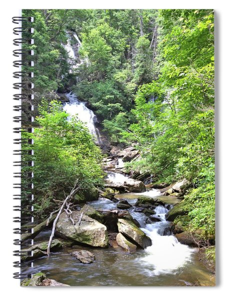 Smith Creek Downstream Of Anna Ruby Falls - 3 Spiral Notebook