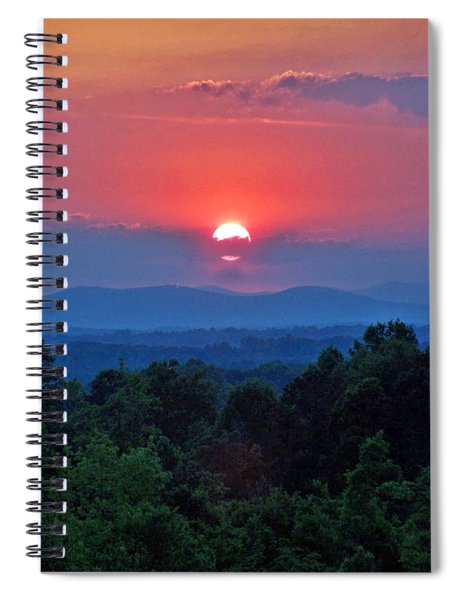 Smokey Mtn Sunset Spiral Notebook