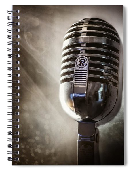 Smoky Vintage Microphone Spiral Notebook