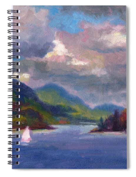 Smooth Sailing Sailboat On Alaska Inside Passage Spiral Notebook