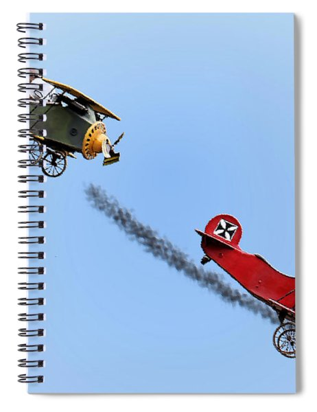 Snoopy And The Red Baron Spiral Notebook