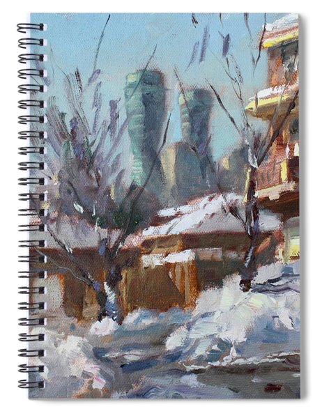 Snow And Sun Spiral Notebook