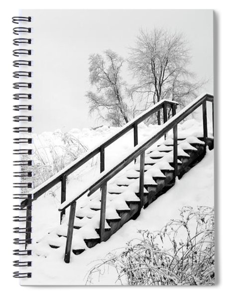 Snow Cover Stairs Spiral Notebook