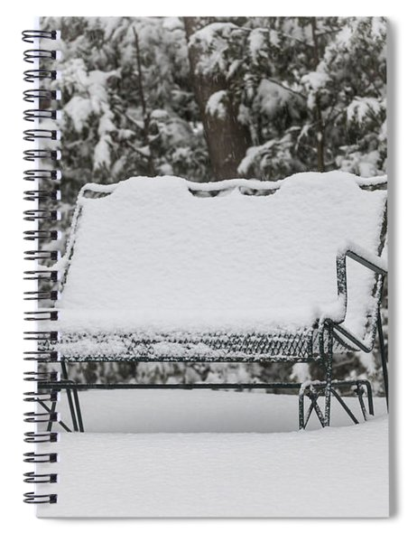 Snow Covered Bench Spiral Notebook