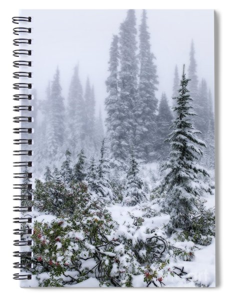 Snow Covered Mountain Ash Spiral Notebook