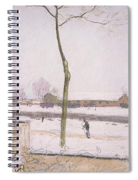Snow Effect Effet De Neige Pastel On Paper C. 1880-1885 Spiral Notebook