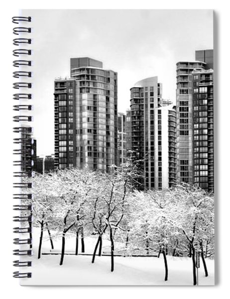 Snow In The City Spiral Notebook