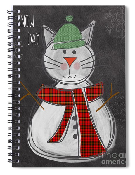 Snow Kitten Spiral Notebook