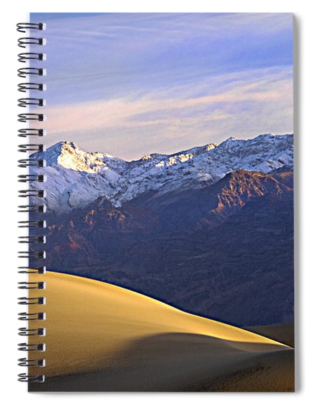 Snow On The Grapevine Range.  Spiral Notebook