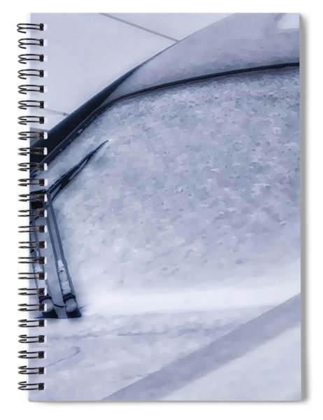 Snow On The Train Spiral Notebook