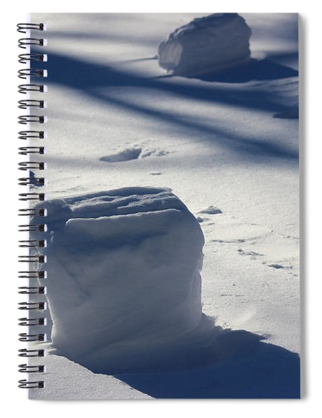 Snow Roller Trio In Shadows Spiral Notebook