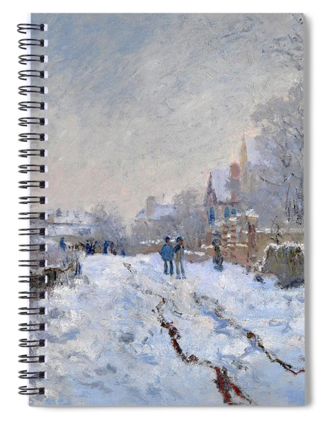 Snow Scene At Argenteuil Spiral Notebook