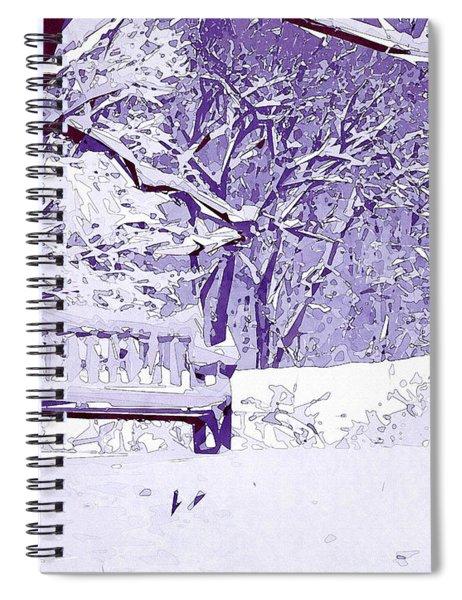 Snow Scenes Of Winter Spiral Notebook
