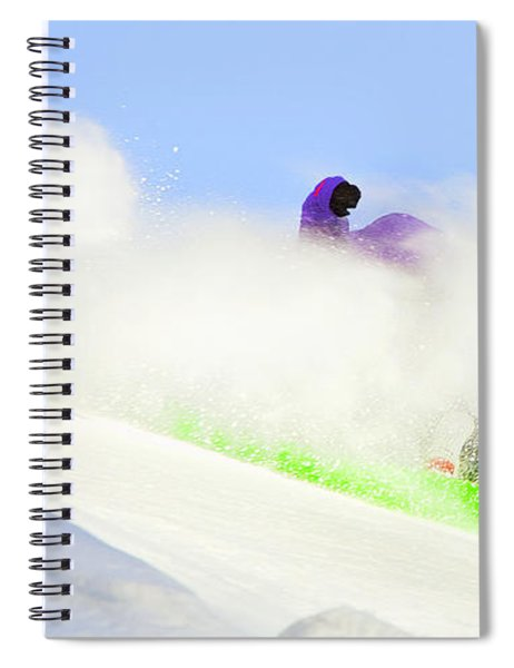Snow Spray Spiral Notebook