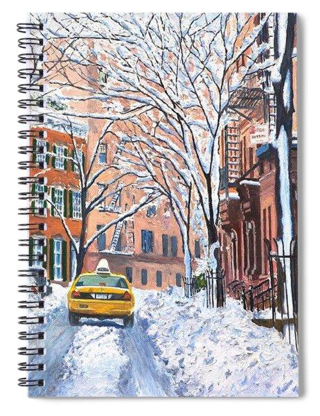 Snow West Village New York City Spiral Notebook