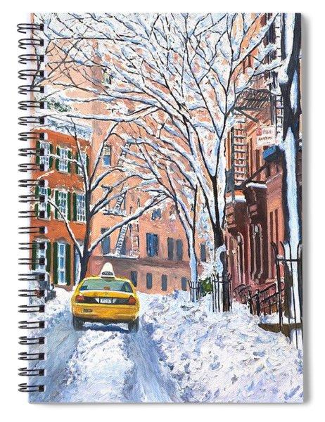 Snow West Village New York City Spiral Notebook by Anthony Butera