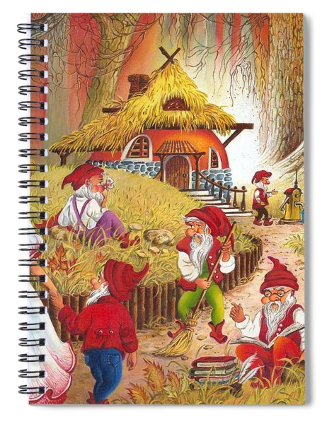 Snow White And The Seven Dwarfs Spiral Notebook