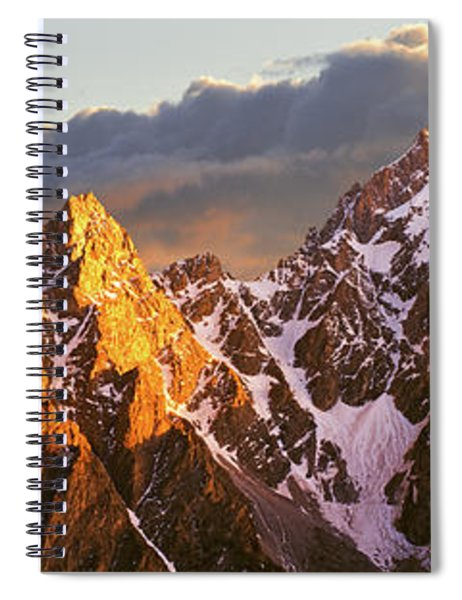 Snowcapped Mountain Range, Cathedral Spiral Notebook
