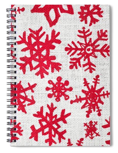 Snowflake Pattern Spiral Notebook