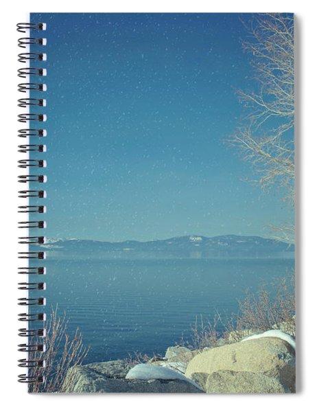 Snowing In Tahoe Spiral Notebook