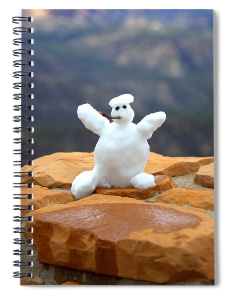 Snowman At Bryce - Square Spiral Notebook