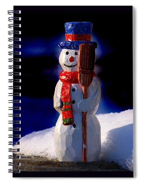 Snowman By George Wood Spiral Notebook