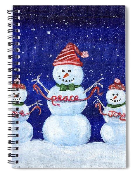 Snowmen Spiral Notebook