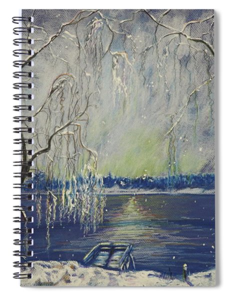 Snowy Day At The Lake Spiral Notebook