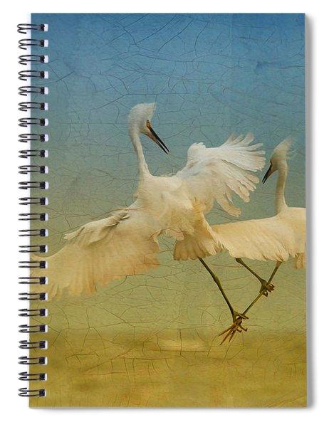 Snowy Egret Dance Spiral Notebook