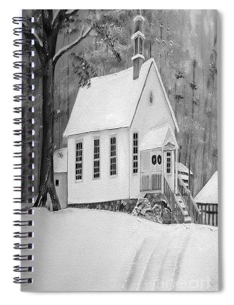 Snowy Gates Chapel -white Church - Portrait View Spiral Notebook