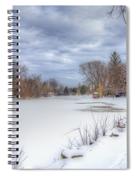 Snowy Lake Spiral Notebook