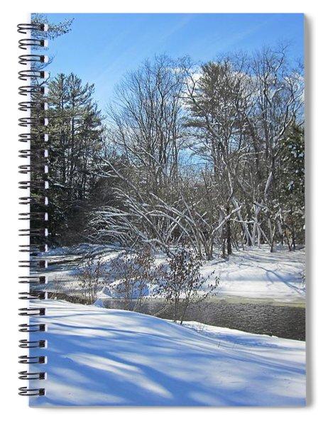Snowy Otter Brook Spiral Notebook