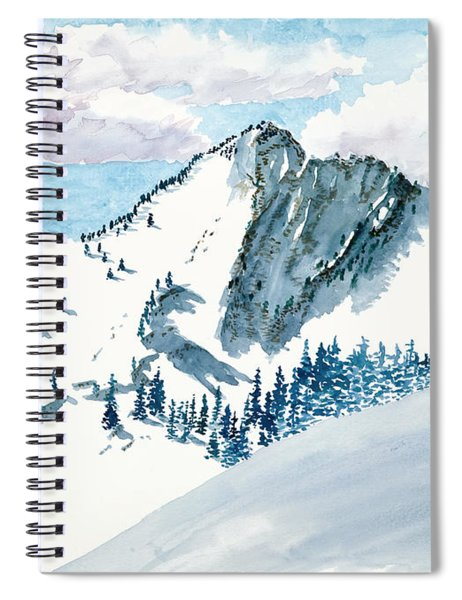 Snowy Wasatch Peak Spiral Notebook