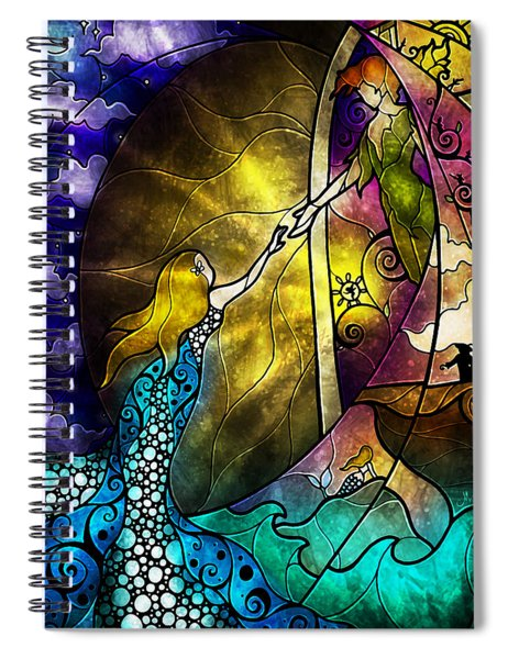 Off To Neverland Spiral Notebook