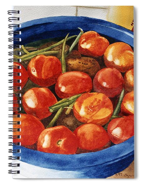 Soaking Tomatoes Spiral Notebook