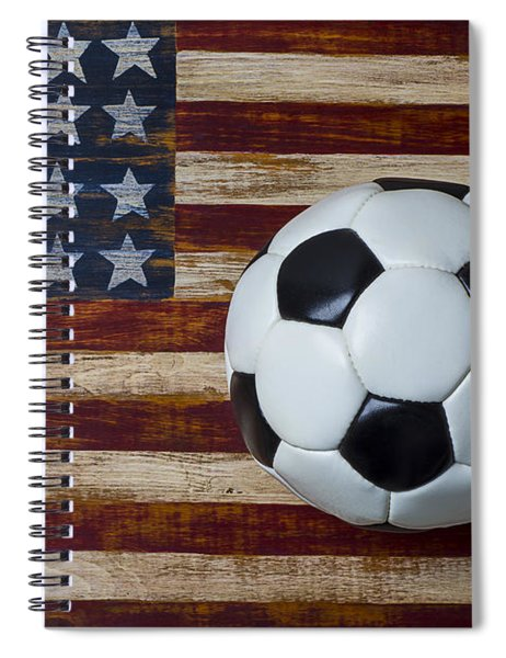 Soccer Ball And Stars And Stripes Spiral Notebook
